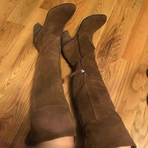 Dolce Vita brown suede over-the-knee boots